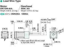 item 0ik1gn aul induction motor on oriental motor u s a corp connection diagram · motor dimensions