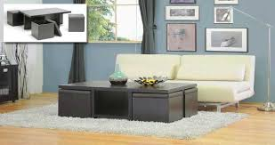 folding furniture for small spaces. 15) Another Cool Coffee Table With 4 Small Stools Folding Furniture For Spaces P