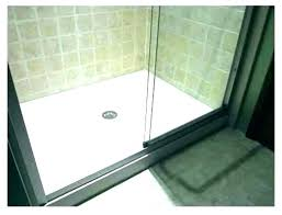 how to install a shower base on concrete floor shower pan liner installation install fiberglass pouring