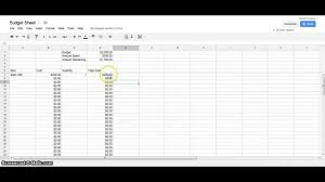 google doc budget template example of making budget spreadsheet maxresdefault google docs