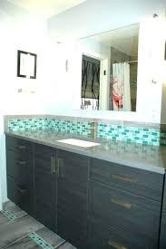 copper accent tile backsplash kitchen idea decorative