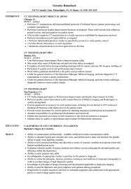 Ct Technologist Resume Samples | Velvet Jobs