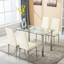 Image is loading 5-Piece-Dining-Table-Set-w-4-Chairs-
