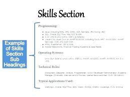Skills In Resume Example Resume Example Of Ski Marvelous Example Of Skills For Resume