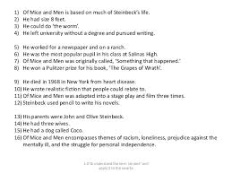 of mice and men literature exam 12 1 of mice and men