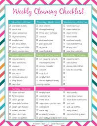 cleaning checklist cleaning binder weekly cleaning checklist sarah titus