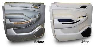 before and after upholstery installation for a suburban