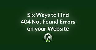 Six Ways to Find 404 Errors On Your Website | Reich Web Consulting
