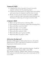 Team Skills Resume Presentation Skills On Resume Emelcotest Com