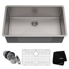 kraus standart pro 32in 16 gauge undermount single bowl stainless steel kitchen sink