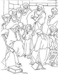 Kleurplaten Jezus En Kinderen