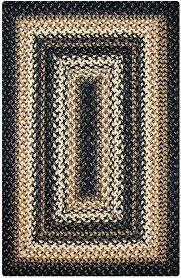black braided rug black cream jute braided rugs