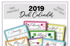 Desk Calendar Printable 2019 Calendar Printable Capturing Joy With Kristen Duke