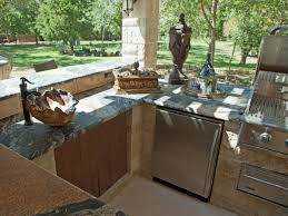 Outdoor Kitchen Refrigerator Exciting Outdoor Kitchen Cabinets With Wooden Access Door Storage