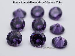 Amethyst Color Chart Cubic Zirconia Amethyst Round Loose Cz Amethyst Color Stones
