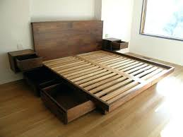 king size platform bed with drawers beds underneath ideas s65