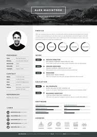MONO RESUME Template Features A Bold Editable Logo Header Which Is Extraordinary Resume Features