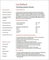 40 Sample Teacher Assistant Resumes Sample Templates Awesome Teaching Assistant Resume