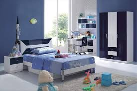 ... Design Ideas For Boys Bedroom Blue Teenage Fashionable Bedroom  Decorating Ideas For Children With White Rug ...