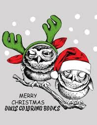 merry christmas owls coloring books
