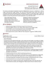 Australian Resume Builder Marketing Manager Resume Template Example