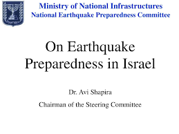 PPT - On Earthquake Preparedness in Israel Dr. Avi Shapira Chairman of the  Steering Committee PowerPoint Presentation - ID:7033634