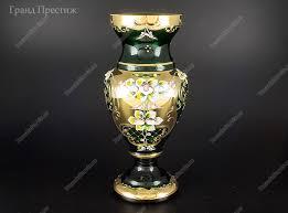 <b>Ваза</b> для цветов из богемского стекла 30 см в Москве | купить по ...