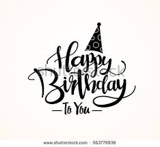 happy birthday design happy birthday greeting card lettering design stock vector