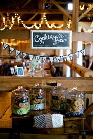 creative cookie bar for rustic barn weddings