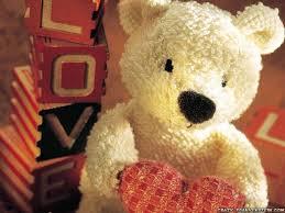 free teddy bear heart cute wallpaper hq backgrounds hd