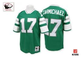 And Men's - Mitchell Jersey Authentic Ness Throwback Eagles Green Philadelphia Carmichael Harold
