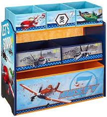 Disney Planes Multi Bin Toy Box Organizer Blue Storage Bedroom Playroom  Film TV