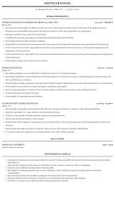 Nurse Technician Resumes Nurse Technician Resume Sample Mintresume