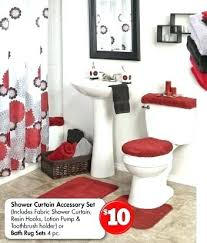 red and gray bathroom red black and gray bathroom all shower curtains shower curtains accessory sets