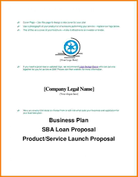 023 Business Plan Title Page Example For Planbusiness