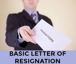 Simple Letter Of Resignation Example Sample Letter Of Resignation