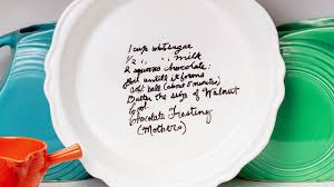 How to Transfer a <b>Handwritten Family</b> Recipe Onto a Pie Plate ...