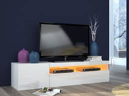 Meuble Tv Design Blanc Laqu Led Daiquiri 154 Cm Meuble Tv Design
