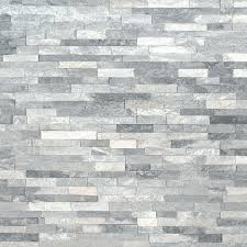 gray mini panel marble stacked stone wall natural grey dark fireplace