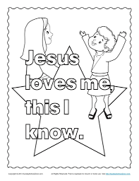 Coloring Pages Jesus Loves Me Coloring Sheet Jesus Coloring Pages