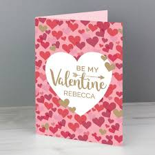 Personalised Valentines Day Confetti Hearts Card