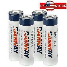 4pcs RAMWAY ER14505 Li-SOCl2 LS14500 AA Size Batteries <b>3.6V</b> ...