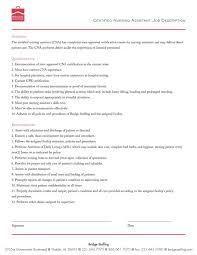 Certified Nursing Assistant Resume Examples Nursing Resume Sample