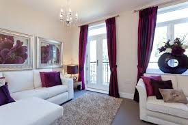Small Picture Beige And Purple Living Room CREATION HOME