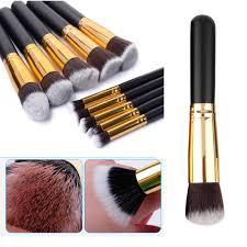 aliexpress vander 10pcs professional soft makeup brushes set cosmetics eye eyebrow shadow tools gift kits kryolan pincel de maquiagem black from
