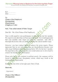 Light Duty Letter To Employer Warning Letter To Employee For Not Achieving Sales Target