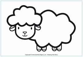 Small Picture Sheep Colouring Pages