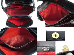 gucci vintage. gucci gucci bag old vintage ◇ black leather constant