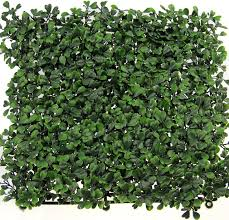 19 7 x19 7 artificial plane hedge fence covering boxwood box of 12