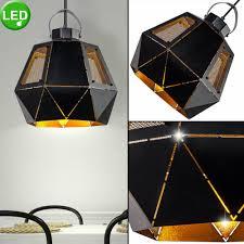 Zimmer Arbeits Lampe Hänge Decken Led Retro Pendel Gold
